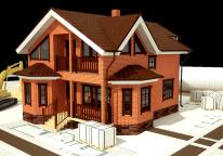 дом из кирпичных блоков